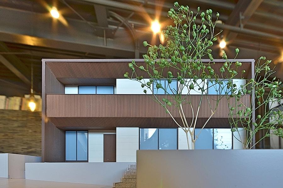 昭和区「川名山町の坂の家」建築模型