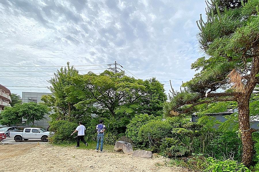千種区「鹿子町の家」植栽工事前の確認