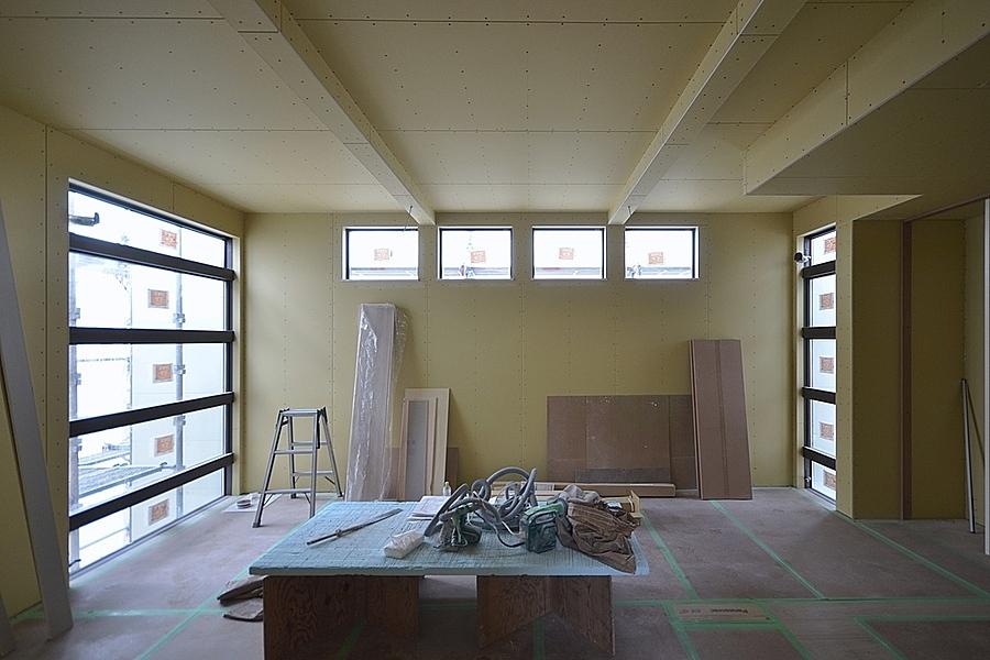 豊田市「東山の家」木工事完了前の打合せ