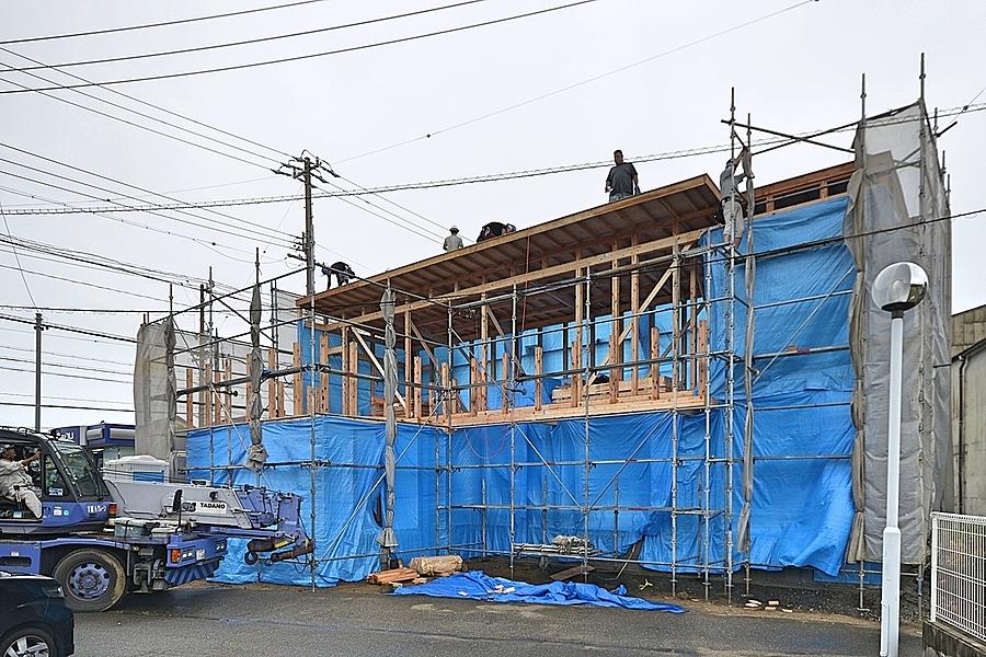 西尾市「米津の家」上棟をいたしました。