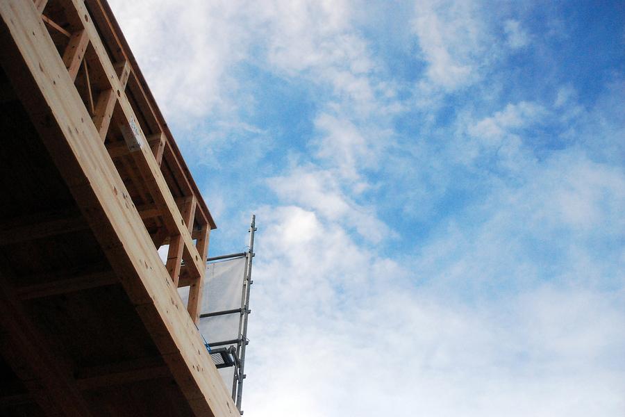 富山市「秋吉の家」上棟