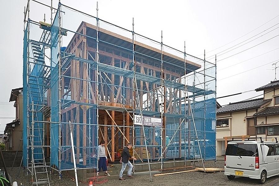 富山市「栄新町の家」構造見学会を開催します。